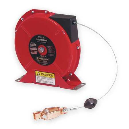 Cable Reel, 50 ft, Spring Return, Red