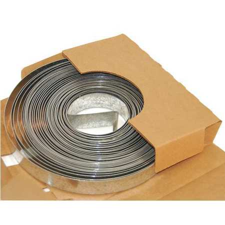 Duct Strapping, 100 Ft L, Galv Steel