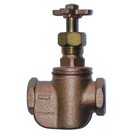 Straight Control Valve, 1 In, FNPT, Brass