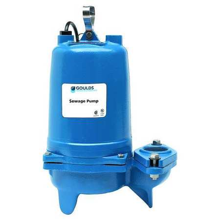 "1 HP 2"" Manual Submersible Sewage Pump 230V"