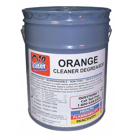 Cleaner Degreaser, Orange Scent, 5 Gal