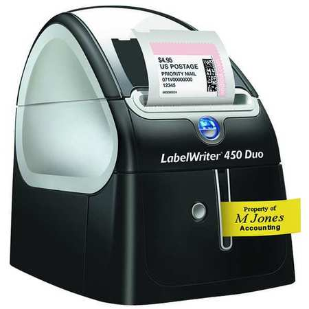 Label Printer,  LabelWriter 450 Duo,  Thermal Transfer,  4 Lines