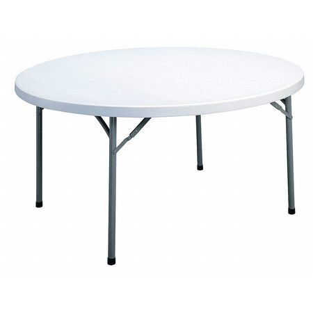 "Round Folding Table,  48""Dia. 29-1/4""H,  White"