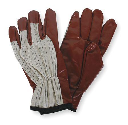Chore Gloves, Cotton,  L, White/Russet, PR