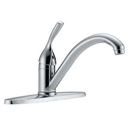Swing Kitchen Faucet,  Chrome,  3 Holes,  Lever Handle