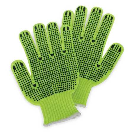 Knit Gloves, S, Hi-Vis Yellow, PR