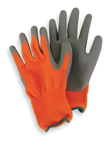 Coated Gloves, L, Hi-Vis Orange/Black, PR