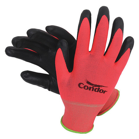 Coated Gloves, XL, Black/Red, PR