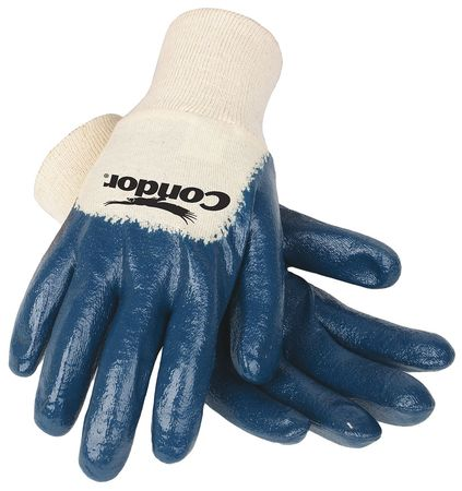 Coated Gloves, S, Blue/White, PR