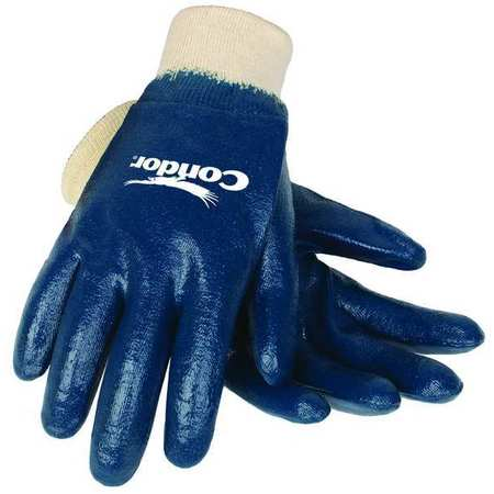 Coated Gloves, M, Blue/White, PR