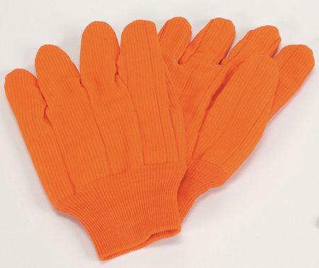 Canvas Gloves, Cotton,  L, High Visibility Orange, PR