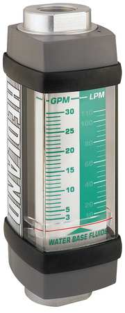 Flowmeter, GPM/LPM  0.2-2.0 / 1-7.5