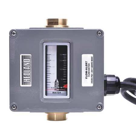 Flowmeter, GPM/LPM  0.5 - 5.0 / 2-19