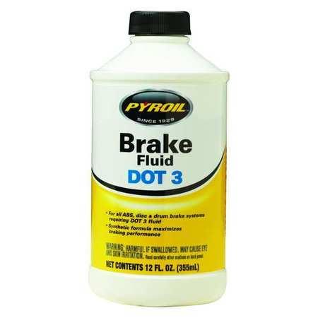 Brake Fluid, 12 Oz, Dot 3