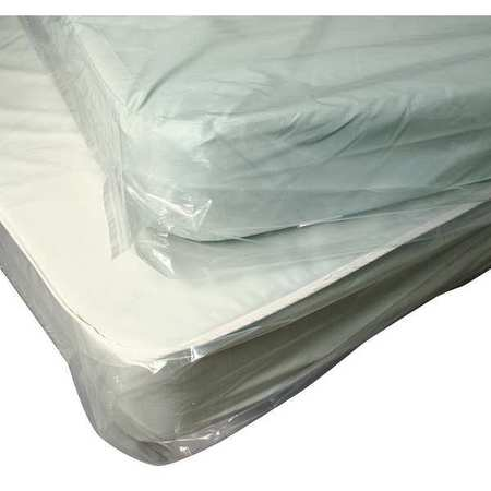 "92"" x 60"" Low Density Polyethylene Mattress Bag,  1.1 mil,  Pk125"