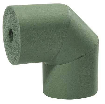 "3-5/8"" x 1-5/64"" Elastomeric Elbow Pipe Fitting Insulation,  3/4"" Wall"