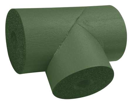 "1-1/8"" x 3/4"" Elastomeric Tee Pipe Fitting Insulation,  3/4"" Wall"