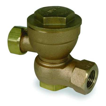 Steam Trap, 25 psi, 353F, 3-1/4 In. L