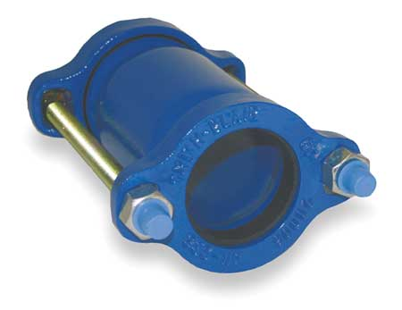 Ductile Iron Coupling, 1/2 In Pipe Size