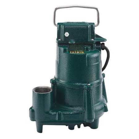 Submersible Effluent Pump, 1/2hp, 4.7A