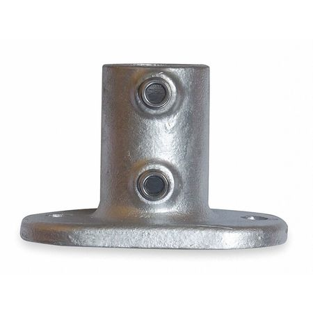 Railing Base Flange, Pipe Size 1 1/4 In