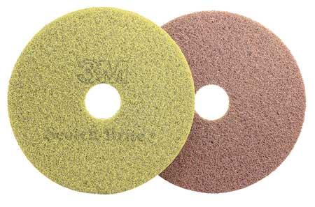 Diamond Floor Pad Plus, 17 In, Sienna, PK5