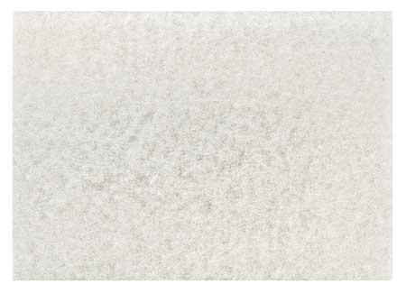 Polishing Pad, 12 In x 18 In, White, PK20