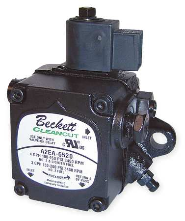 Oil Burner Pump, 3450 rpm, 4gph, 100-200psi