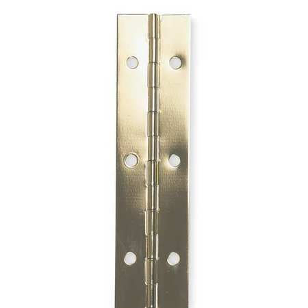 Piano Hinge, Brass, 4 ft. L, 2 In. W