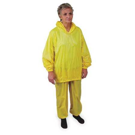 2 Piece Rainsuit w/Hood, Ylw, XL