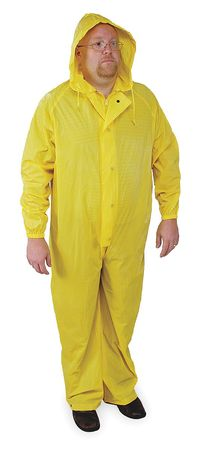 Coverall Rainsuit w/Hood, Ylw, 3XL