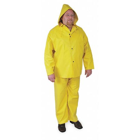 FR Rain Jacket with Hood, Yellow, S