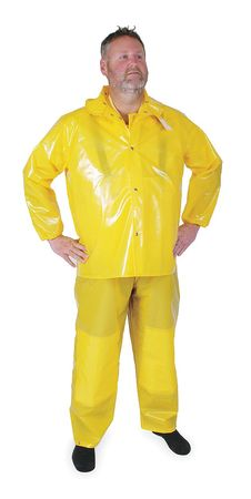 Rain Jacket w/Detachable Hood, Yellow, 3XL