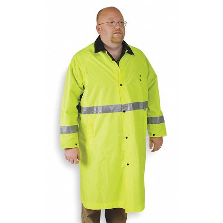 Raincoat, Hi-Vis Lime/Black, M