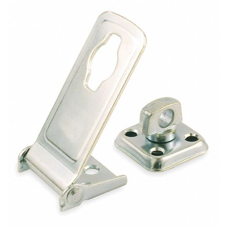 Latching Safety Hasp, Steel, 3-1/2 In. L