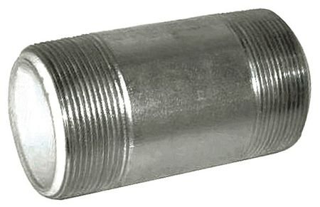 "2-1/2"" x 6"" MNPT Galvanized Steel Dielectric Nipple"