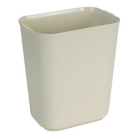 3-1/2 gal. Beige Rectangular Wastebasket