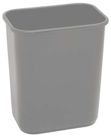 7 gal. Gray Rectangular Wastebasket