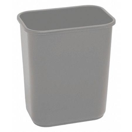 7 gal. Gray Rectangular Wastebasket