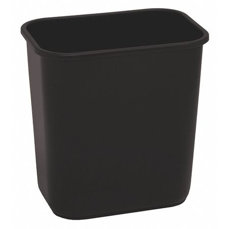3-1/2 gal. Black Rectangular Wastebasket