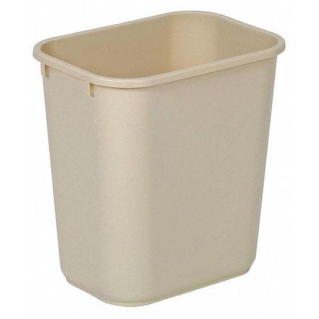 3-1/2 gal. Beige Rectangular Wastebasket