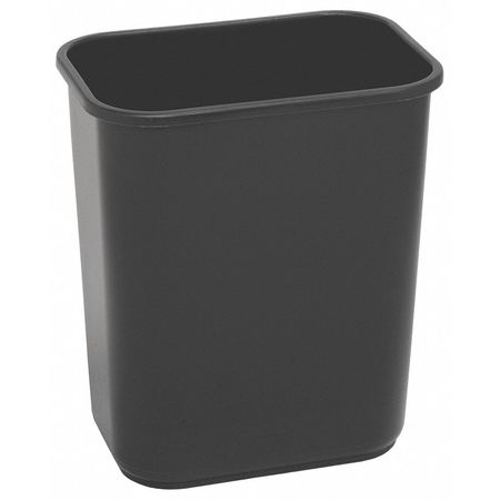 7 gal.  Rectangular  Black  Trash Can