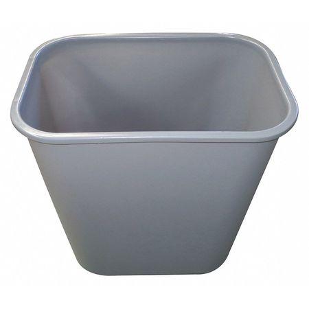 10 gal. Gray Rectangular  Trash Can