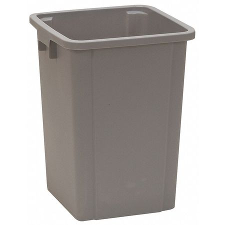 19 gal. Gray Square Trash Can