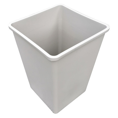 19 gal.  Square  Beige  Trash Can