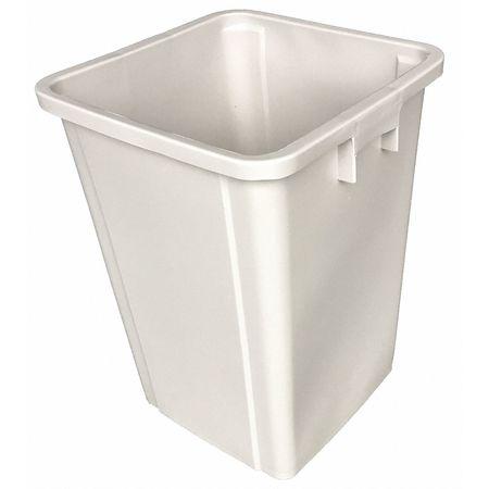 19 gal. Beige Square Trash Can