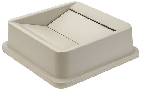Square  Beige  Trash Can