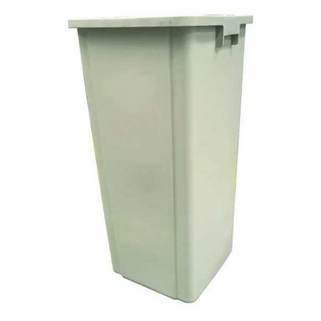 23 gal.  Square  Beige  Trash Can