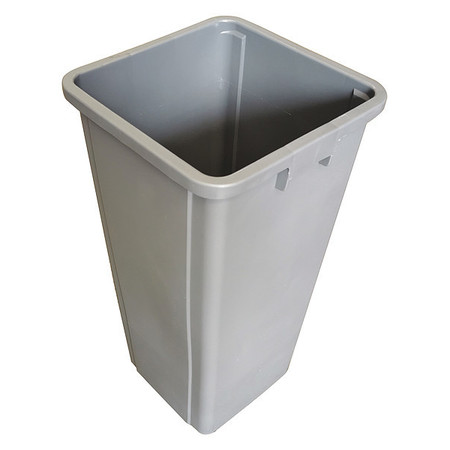 23 gal.  Square  Gray  Trash Can