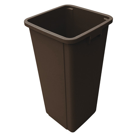23 gal. Brown Plastic Square Trash Can Liner